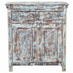 Blue wash commode